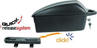 Kufer rowerowy na bagażnik w systemie CLICK
