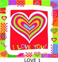 Siodełko Turystyczne - motyw LOVE